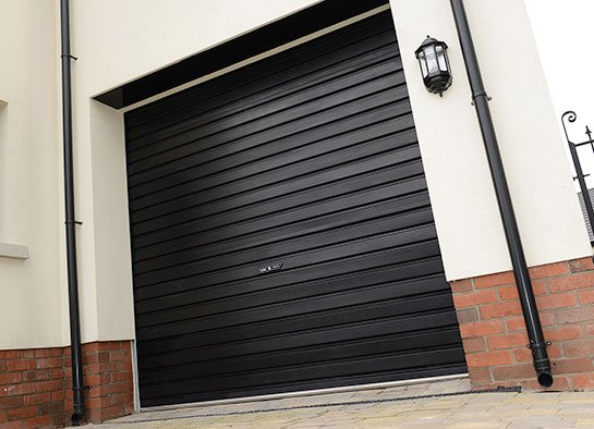 Great Non Insulated Roller Garage Door Black